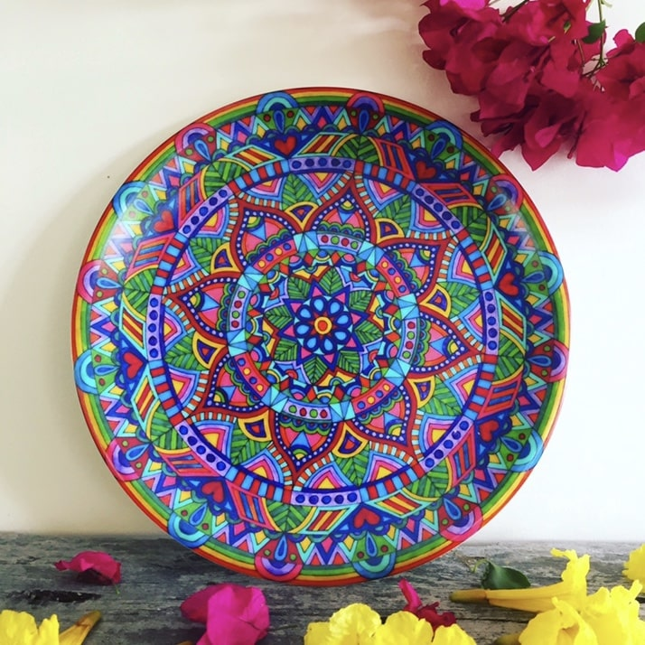 Bohemian homewares - beautiful plates for your picnics and dinner parties