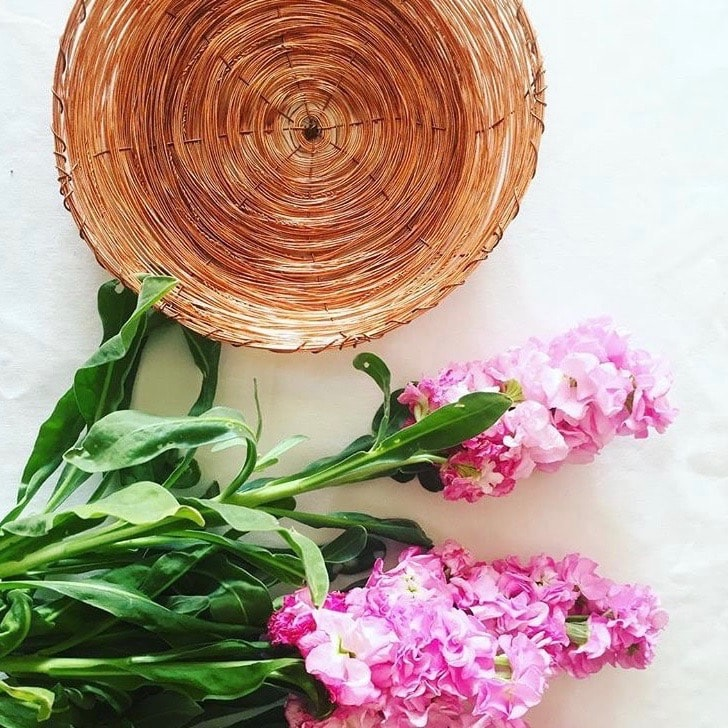 Handcrafted copper bowl - bohemian tableware for your home