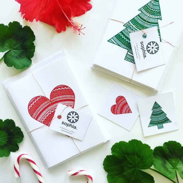 Beautiful Christmas gift tags paired with festive treats