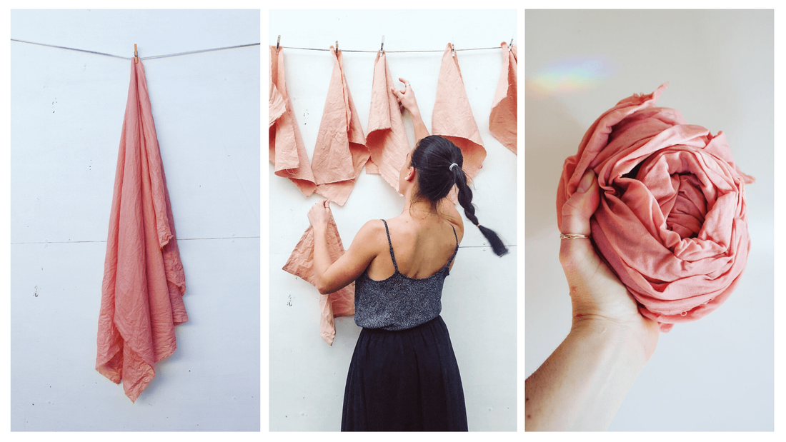How our organic textiles are created with natural dyes and Australian linen