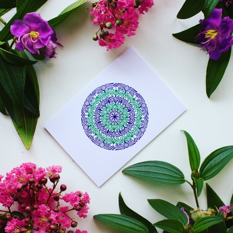 Beautiful green and purple gift cards for international womens day
