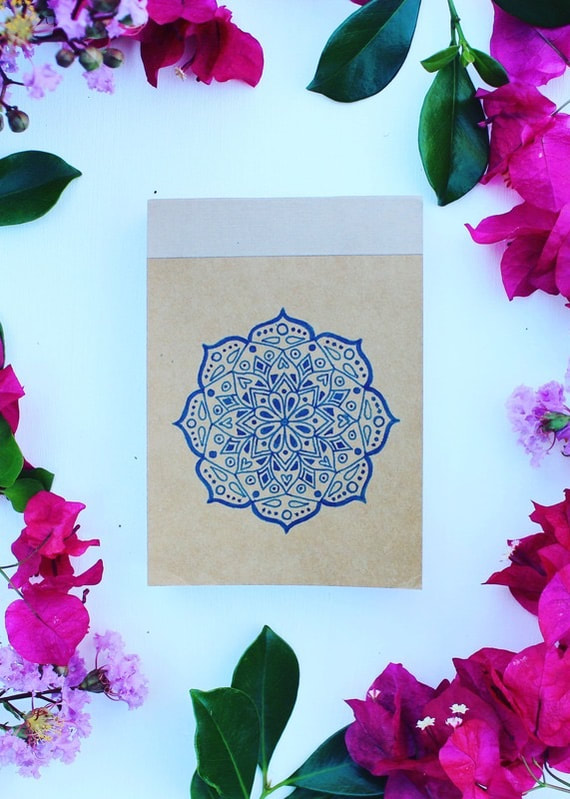 Mandala memo pad - ethical stationery