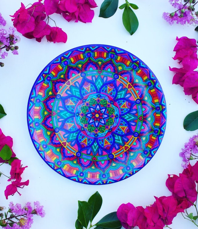 Bohemian Plate -sustainable and ethical homewares