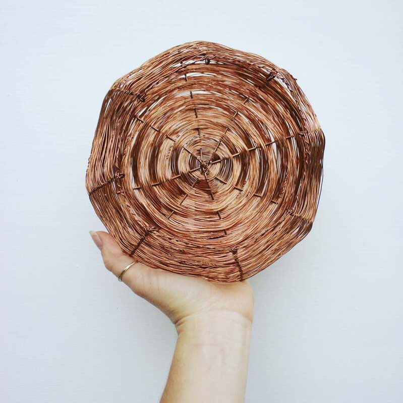 Copper homewares - large copper basket