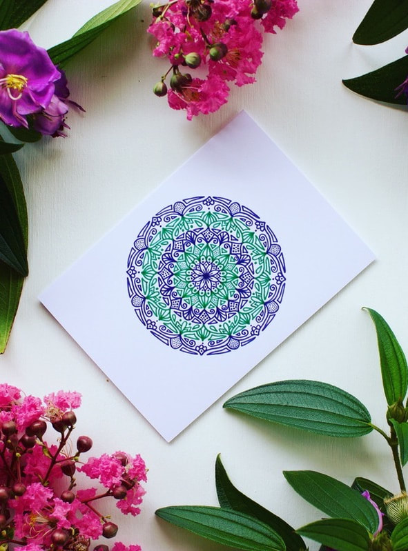 Purple and green gift cards for International Women's Day