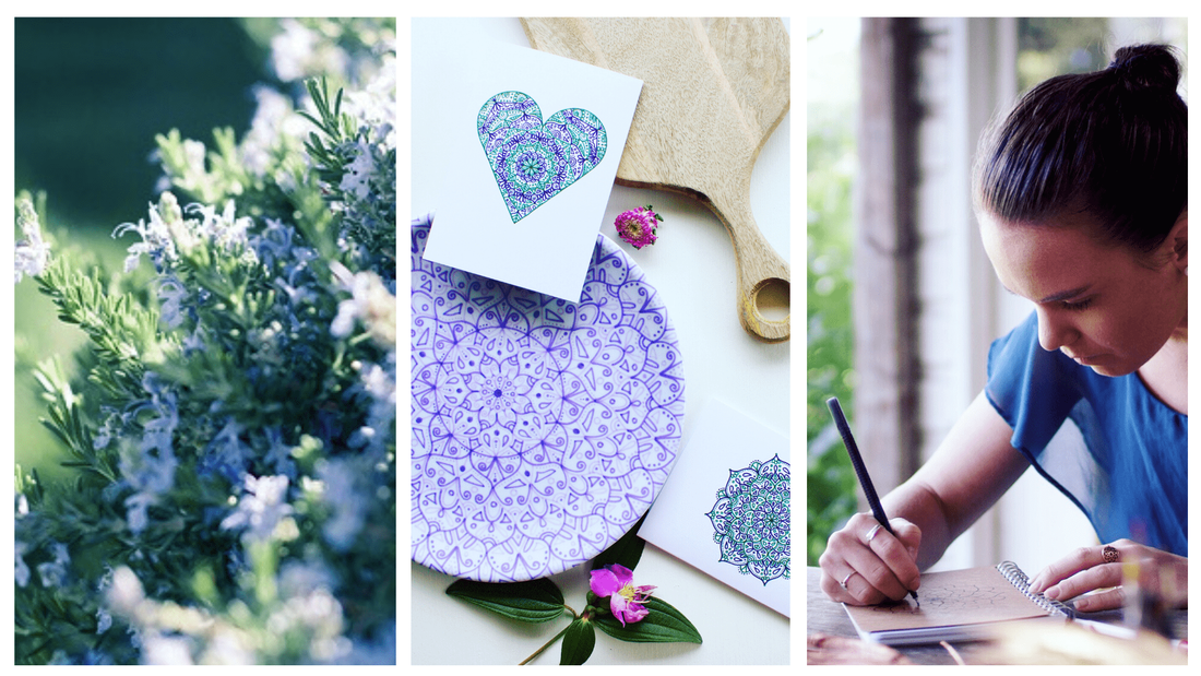 The creation process behind our pretty gift tags and how each one is hand drawn