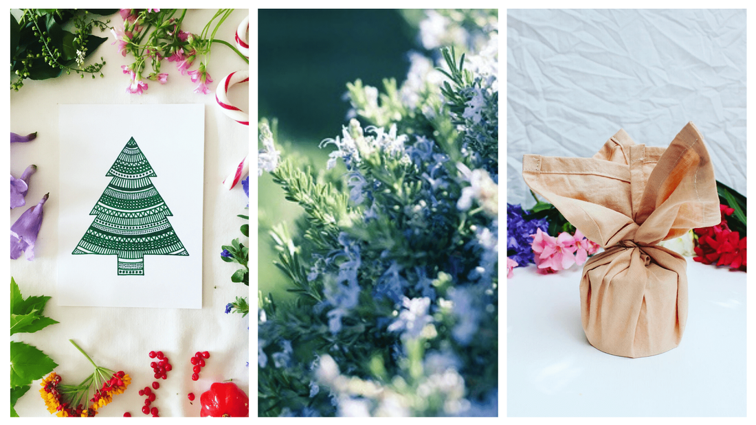 Sustainable and ethical Christmas cards with beautiful decorations