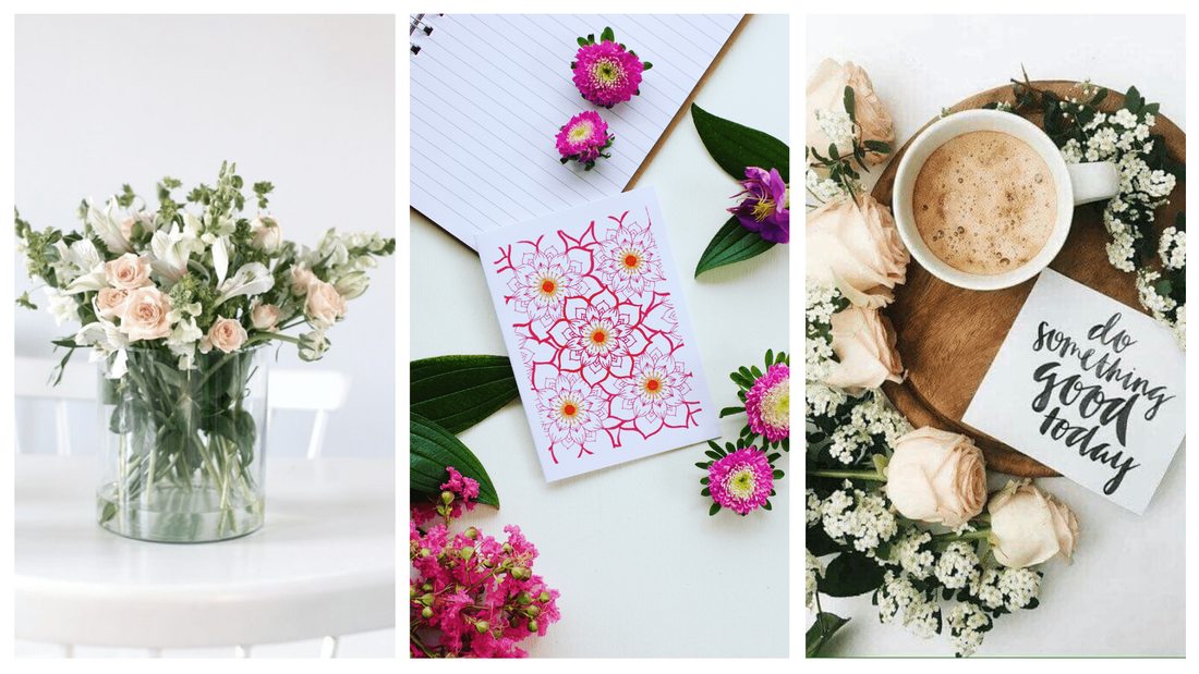 Fresh flowers that have inspired the creation of our sustainable and ethical gift tags